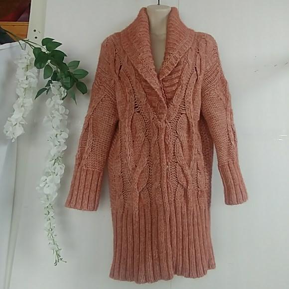 bb26eab397 LOFT Sweaters - Loft Chunky Rust Cardigan Sweater